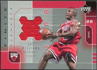 2002/03 Upper Deck Finite Elements Jerseys #JWJ Jay Williams