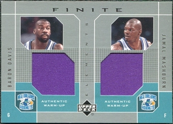 2002/03 Upper Deck Finite Elements Dual Warm-Ups #BDJM Baron Davis Jamal Mashburn