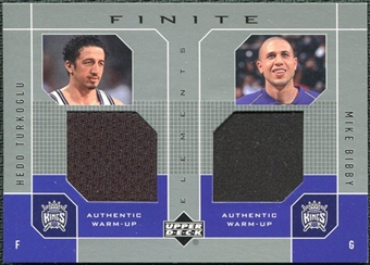 2002/03 Upper Deck Finite Elements Dual Warm-Ups #HTMB Hedo Turkoglu Mike Bibby