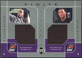 2002/03 Upper Deck Finite Elements Dual Warm-Ups #SMSM Stephon Marbury Shawn Marion