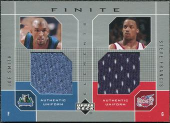 2002/03 Upper Deck Finite Elements Dual Uniforms #JSSFU Joe Smith/Steve Francis