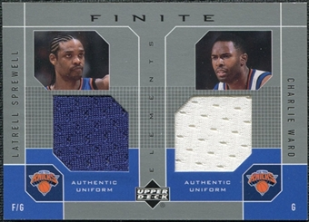 2002/03 Upper Deck Finite Elements Dual Uniforms #LSCWU Latrell Sprewell Charlie Ward