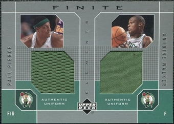 2002/03 Upper Deck Finite Elements Dual Uniforms #PPAWU Paul Pierce Antoine Walker