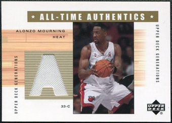 2002/03 Upper Deck Generations All-Time Authentics #AMA Alonzo Mourning