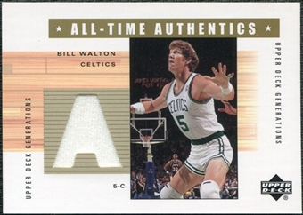 2002/03 Upper Deck Generations All-Time Authentics #BWA Bill Walton
