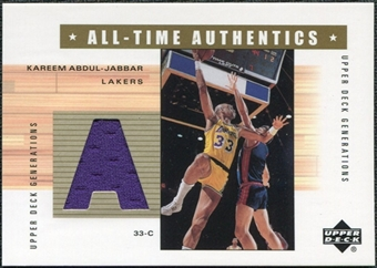 2002/03 Upper Deck Generations All-Time Authentics #KAA Kareem Abdul-Jabbar