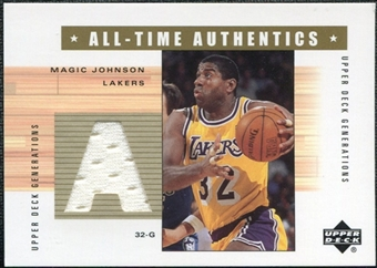 2002/03 Upper Deck Generations All-Time Authentics #MG2A Magic Johnson White