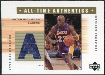 2002/03 Upper Deck Generations All-Time Authentics #MRA Mitch Richmond