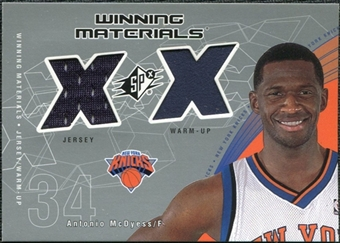 2002/03 Upper Deck SPx Winning Materials #AMW Antonio McDyess Warm Jersey