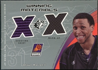 2002/03 Upper Deck SPx Winning Materials #SHW Shawn Marion Shirt Warm