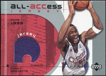 2002/03 Upper Deck All-ACCess Jerseys #ACM Corey Maggette