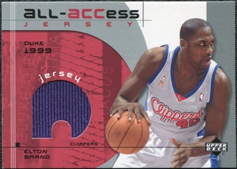 2002/03 Upper Deck All-ACCess Jerseys #AEB Elton Brand