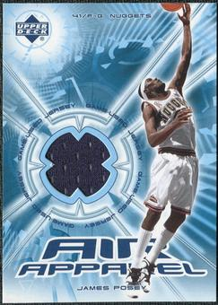 2002/03 Upper Deck Air Apparel #JPAA James Posey