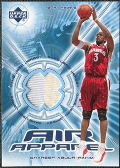 2002/03 Upper Deck Air Apparel #SAAA Shareef Abdur-Rahim SP