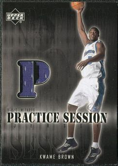 2002/03 Upper Deck Practice Session Jerseys #KWPS Kwame Brown