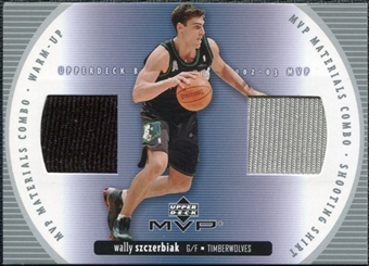 2002/03 Upper Deck Materials Combo #6 Wally Szczerbiak