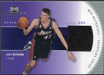 2002/03 Upper Deck Materials Shooting Shirt #AKS Andrei Kirilenko
