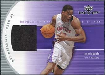 2002/03 Upper Deck Materials Warm Up #ADW Antonio Davis