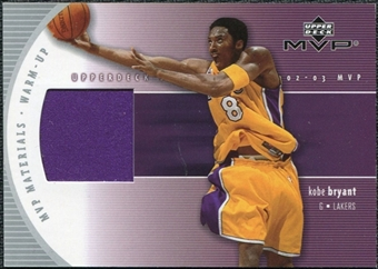 2002/03 Upper Deck Materials Warm Up #KBW Kobe Bryant