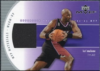 2002/03 Upper Deck Materials Warm Up #KMW Karl Malone