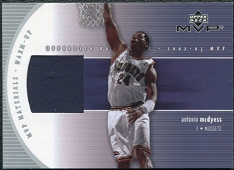 2002/03 Upper Deck Materials Warm Up #MCW Antonio McDyess