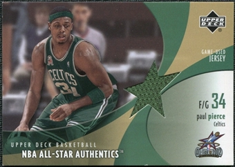 2002/03 Upper Deck All-Star Authentics Jerseys #PPAJ Paul Pierce