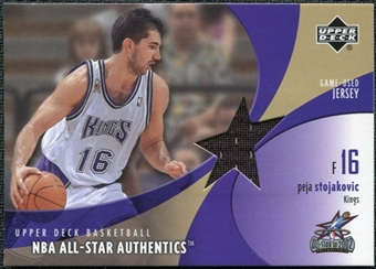 2002/03 Upper Deck All-Star Authentics Jerseys #PSAJ Peja Stojakovic