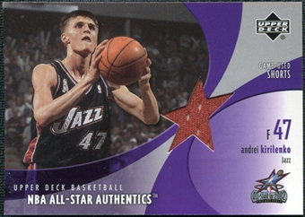 2002/03 Upper Deck All-Star Authentics Shorts #AKAS Andrei Kirilenko