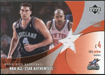2002/03 Upper Deck All-Star Authentics Shorts #CMAS Chris Mihm