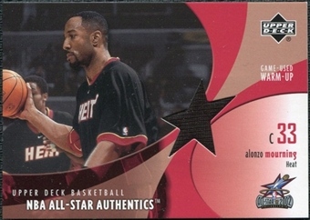 2002/03 Upper Deck All-Star Authentics Warm-Ups #AMAW Alonzo Mourning