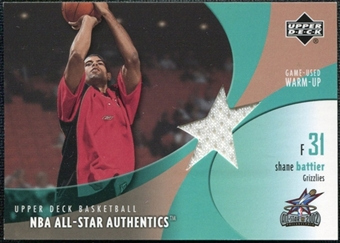 2002/03 Upper Deck All-Star Authentics Warm-Ups #SBAW Shane Battier