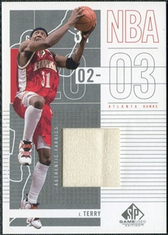 2002/03 Upper Deck SP Game Used #3 Jason Terry Jersey