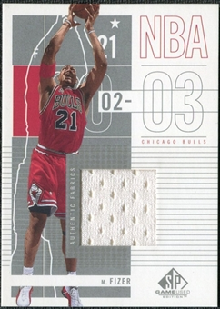 2002/03 Upper Deck SP Game Used #14 Marcus Fizer Jersey