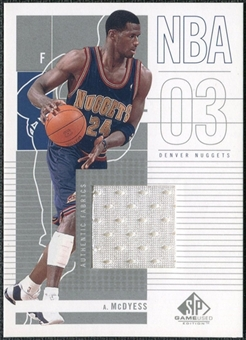 2002/03 Upper Deck SP Game Used #23 Antonio McDyess Jersey