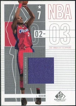 2002/03 Upper Deck SP Game Used #40 Lamar Odom Jersey