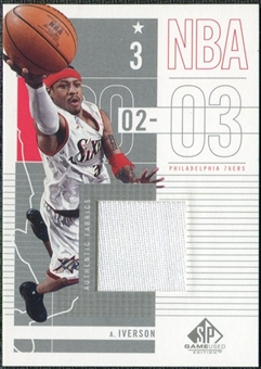 2002/03 Upper Deck SP Game Used #71 Allen Iverson Jersey