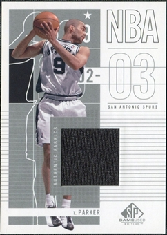 2002/03 Upper Deck SP Game Used #87 Tony Parker Jersey