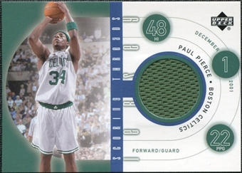 2002/03 Upper Deck Scoring Threads #SCPP Paul Pierce R SP