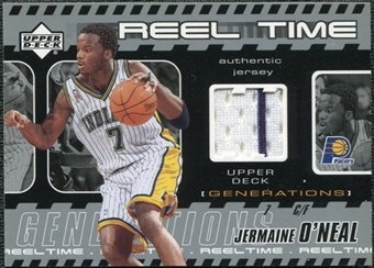 2002/03 Upper Deck Generations Reel Time Jersey #JOJ Jermaine O'Neal