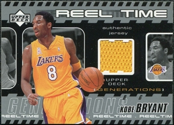 2002/03 Upper Deck Generations Reel Time Jersey #KBJ Kobe Bryant