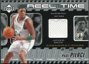 2002/03 Upper Deck Generations Reel Time Jersey #PPJ Paul Pierce