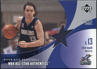 2002/03 Upper Deck All-Star Authentics Shorts #SNAS Steve Nash