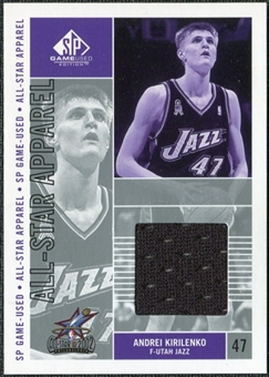 2002/03 Upper Deck SP Game Used All-Star Apparel #AKAS Andrei Kirilenko