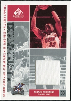 2002/03 Upper Deck SP Game Used All-Star Apparel #AMAS Alonzo Mourning