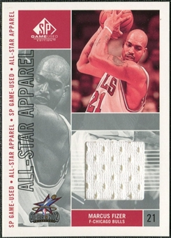 2002/03 Upper Deck SP Game Used All-Star Apparel #MFAS Marcus Fizer
