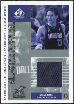 2002/03 Upper Deck SP Game Used All-Star Apparel #SNAS Steve Nash