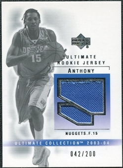 2003/04 Upper Deck Ultimate Collection Jerseys #CA Carmelo Anthony 42/200