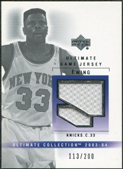 2003/04 Upper Deck Ultimate Collection Jerseys #PE Patrick Ewing /200