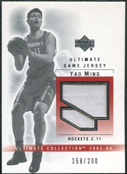 2003/04 Upper Deck Ultimate Collection Jerseys #YM Yao Ming /200