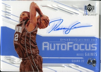 2003/04 Upper Deck UD Glass Auto Focus #RG Reece Gaines Autograph